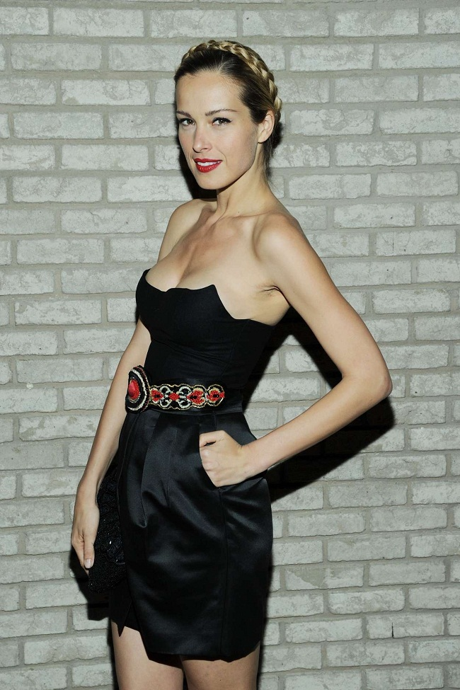 Petra Nemcova at the La Perla fall 2013 presentation