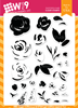 Wplus9 FREEHAND FLORALS Clear Stamps