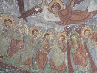 Fresco de una de las iglesias.