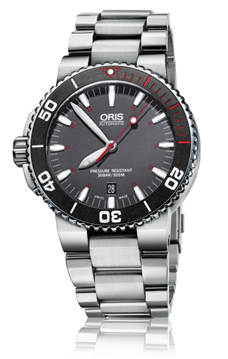 ORIS AQUIS RED LIMITED EDITION 733 7653 4183-SET MB
