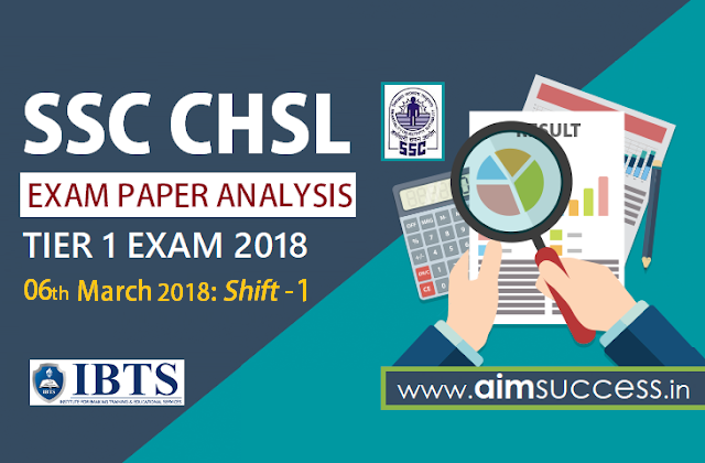 SSC CHSL Tier-I Exam Analysis 6th March 2018 Shift - 1