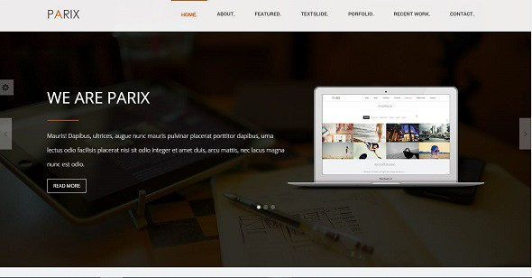 Parix One Page Blogger Template