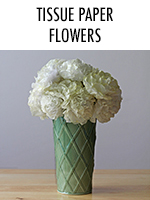 Easy DIY paper flowers made from tissue paper