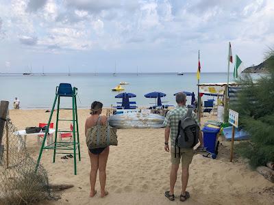 Biodola beach - arriving.
