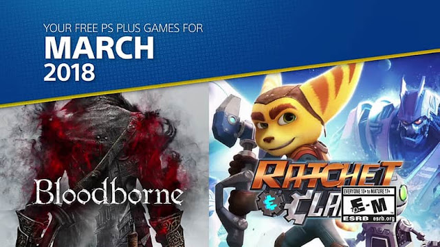 List of the free games for PlayStation Pus subscribers announced for March 2018
