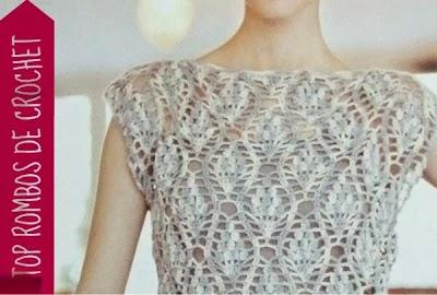 Top Rombos de Crochet Patron