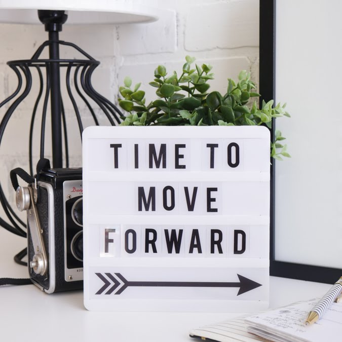 Heidi Swapp Lightbox Time To Move Forward by Jamie Pate | @jamiepate for @heidiswapp
