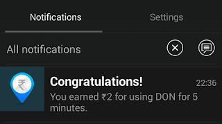 Don app daily bonus