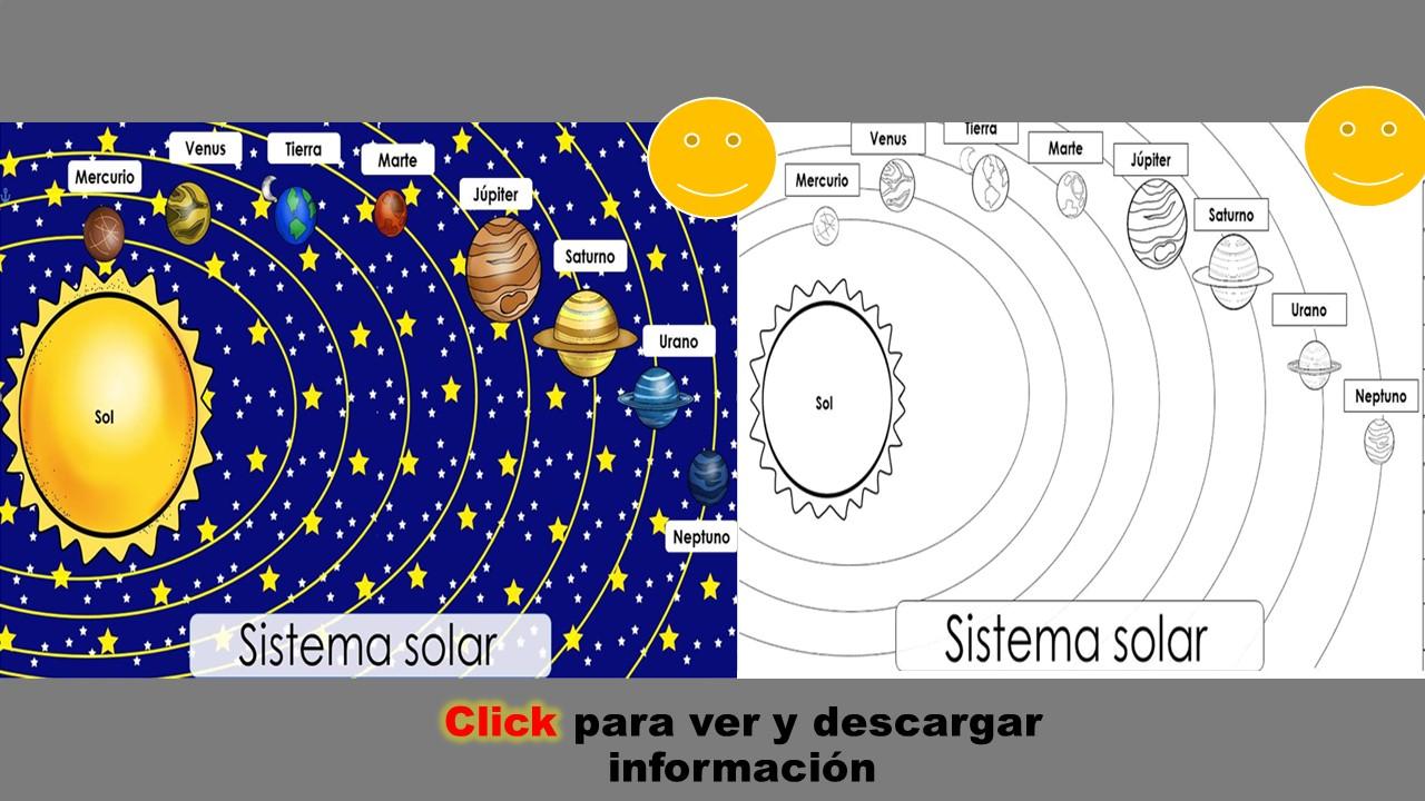documento informativo y para colorear del sistema solar noticia366