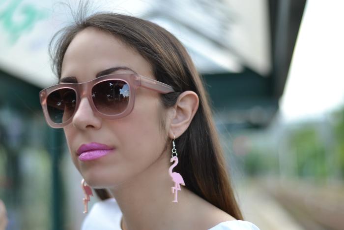 orecchini fenicottero rosa
