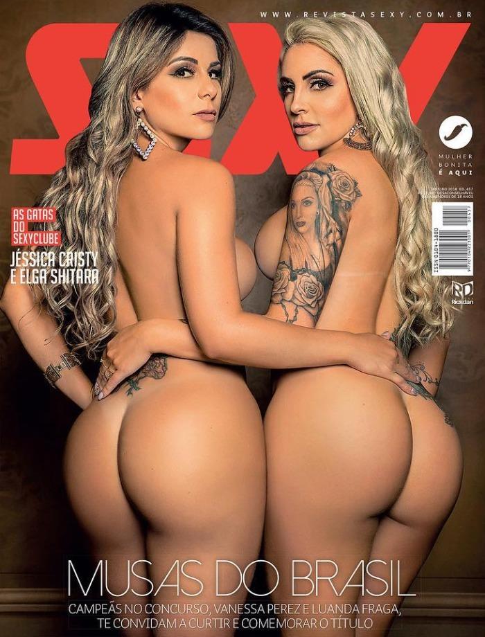 Vanessa Perez & Luanda Fraga Nua Pelada - Revista Sexy Janeiro/2018