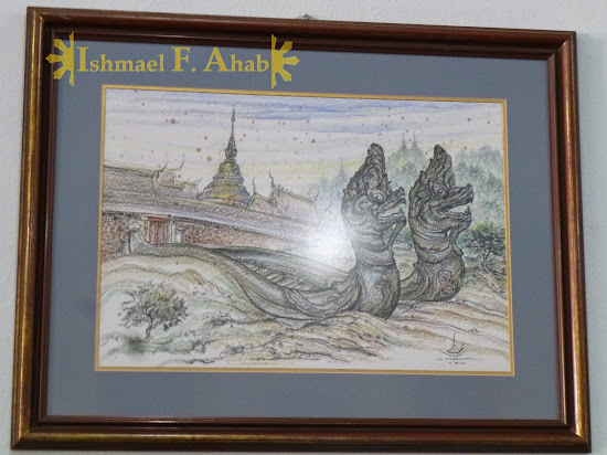 North Thailand - Drawing of Lampang Temple