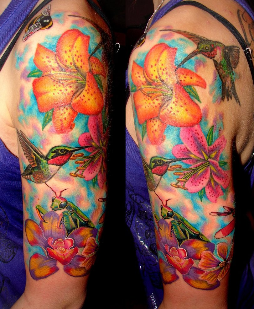 27 Hummingbird Tattoo Designs Ideas: GRIFFE TATTOO: ORQUÍDEA TATTOO