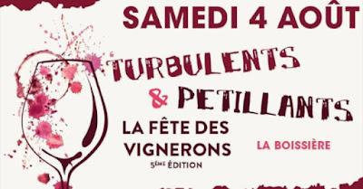 Vin - Vos événements à ne pas manquer en Août 2018 Salon Turbulents et Pétillants à La Boissière (34)