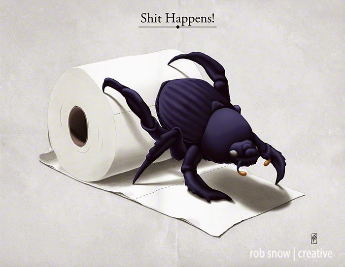 23-Shit-Happens-Rob-Snow-Animal-Illustrations-Play-on-Words-www-designstack-co