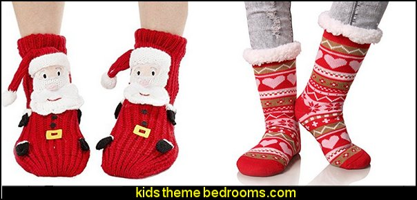 Slipper Socks  Pajamas - fun pajamas family pajamas sleepwear - Girls Pajamas - Boys Pajamas - Mommy & Me pajamas - Christmas pajamas - fun boxers - Christmas gifts - holiday traditions - socks  - novelty socks - Christmas socks - Holiday clothing - slippers