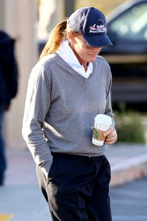 Bruce Jenner appears with breasts grown