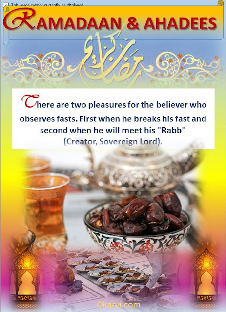 Ramadaan & Ahadees-FASTING -Believers Reward