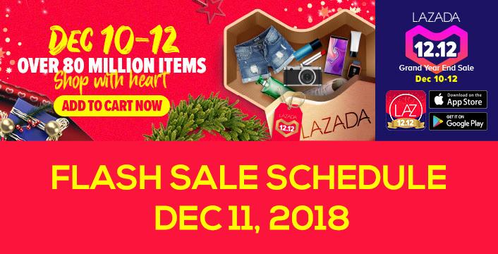 fc8603e2a284 Lazada 12.12 Flash Sale Schedule - December 11