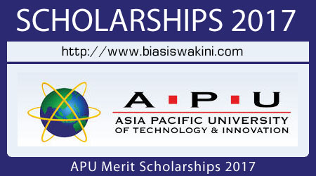 APU Merit Scholarships 2017 (Malaysian Students)