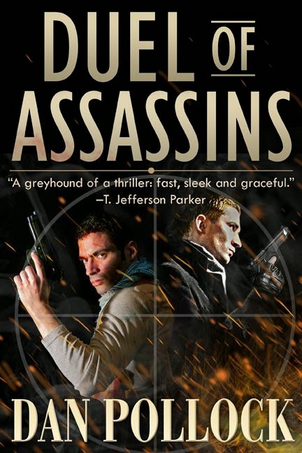 "<b>DUEL OF ASSASSINS: ""fast, sleek and graceful.""<br>—T. Jefferson Parker</b>"