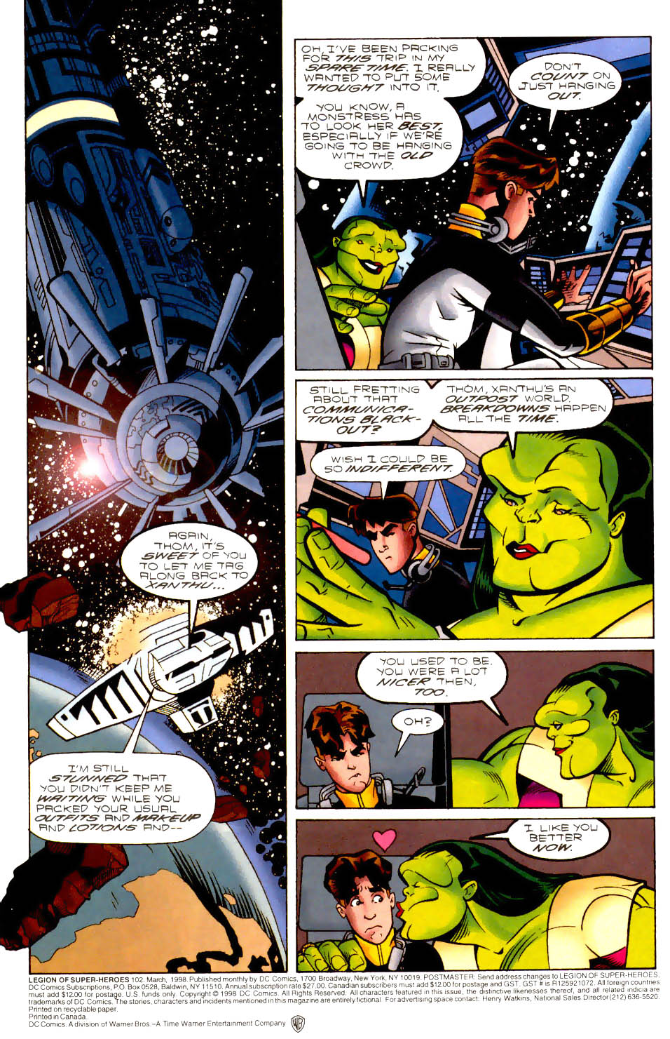 Legion of Super-Heroes (1989) 102 Page 1