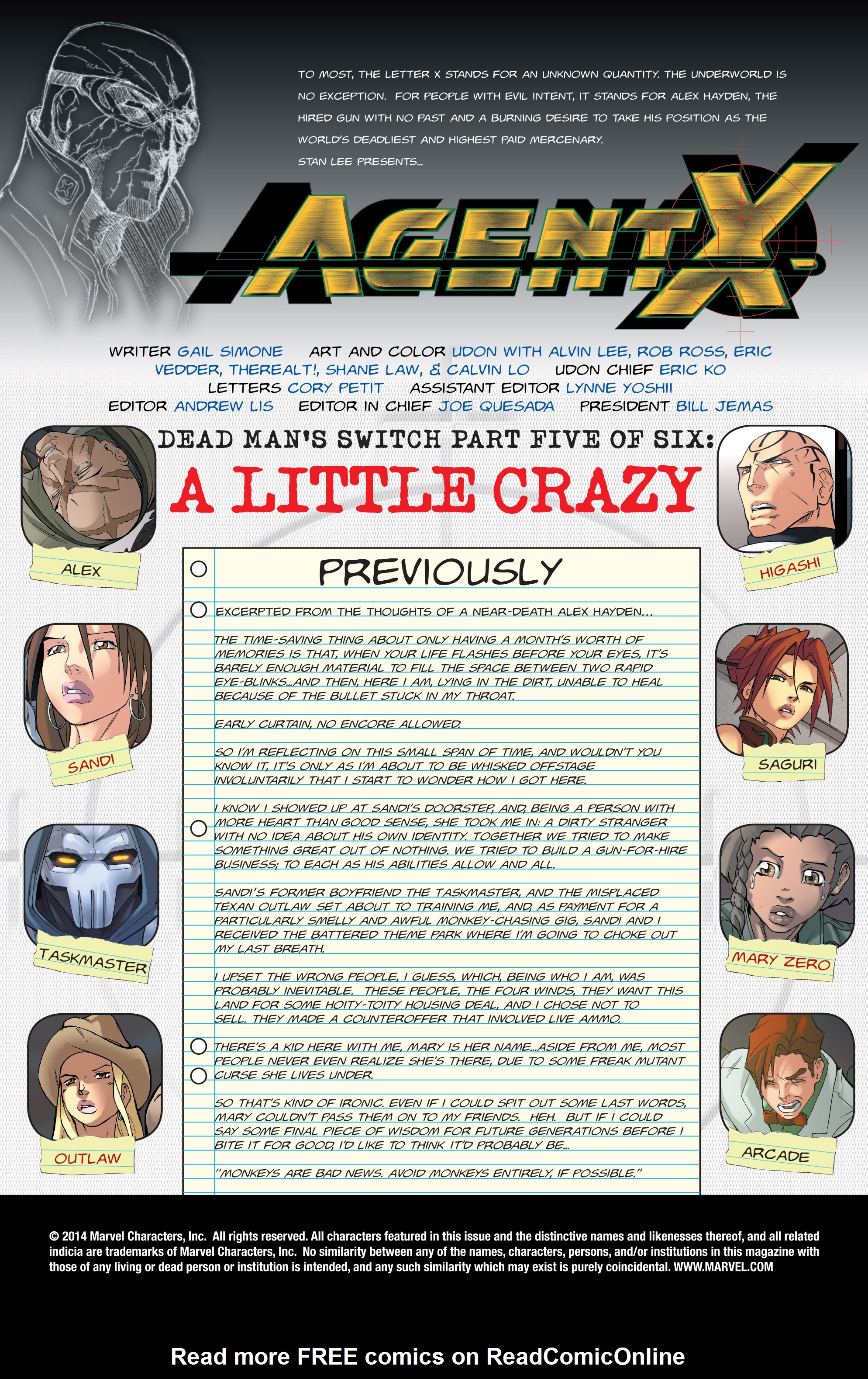 Read online Agent X comic -  Issue #5 - 2
