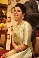 Samantha Ruth Prabhu in Cream Suit at Launch of NAC Jewelles Antique Exhibition 2.8.17 ~  Exclusive Celebrities Galleries 005.jpg