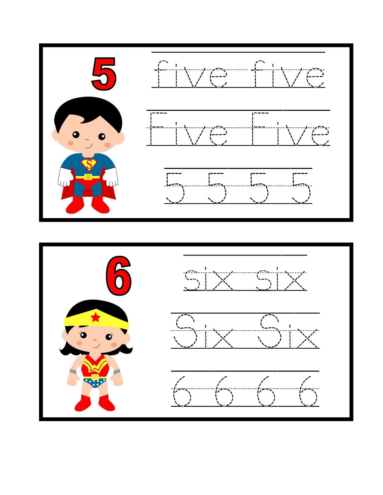 Kindergarten Superhero Printables