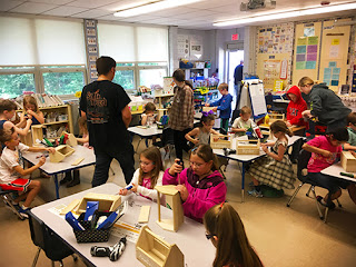 Tri-County Carpentry Students Visit McGovern Elementary in Medway 1