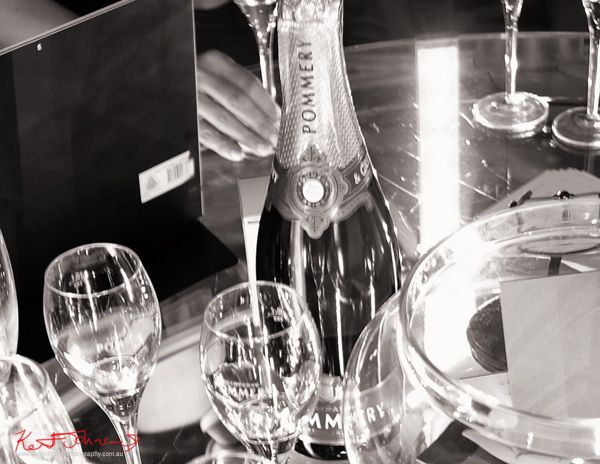 Pommery Champagne at the Fairfax and Roberts, Shamballa Jewels Equality Bracelet launch party. Photographed by Kent Johnson.