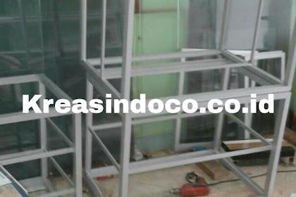 Proses Bikin Rangka Kitchen Set Aluminium