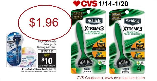 http://www.cvscouponers.com/2018/01/hot-schick-xtreme-disposable-razors.html