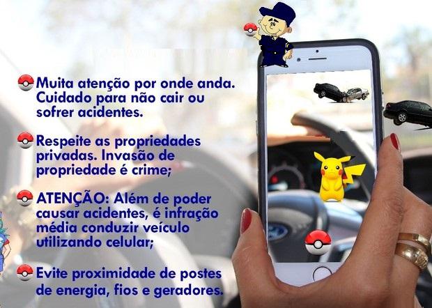 Dicas de segurança para jogar pokémon: 'Eles são virtuais, você não'