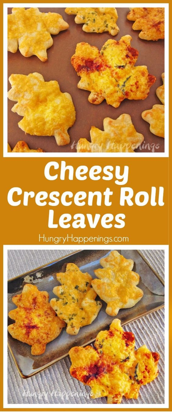 Cheesy Crescent Roll Leaves For Your Thanksgiving Bread Basket
