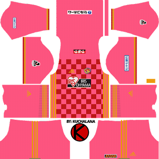 Vegalta Sendai ベガルタ仙台 kits 2017 - Dream League Soccer