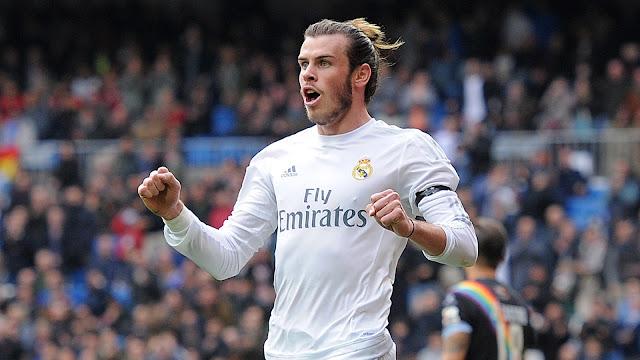 Gareth Bale wa Real Madrid akisherehekea goli kwenye moja wapo ya mchezi za klabu yake.Picha/Getty Images