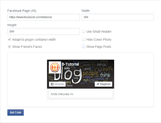 Membuat Facebook Page Plugin