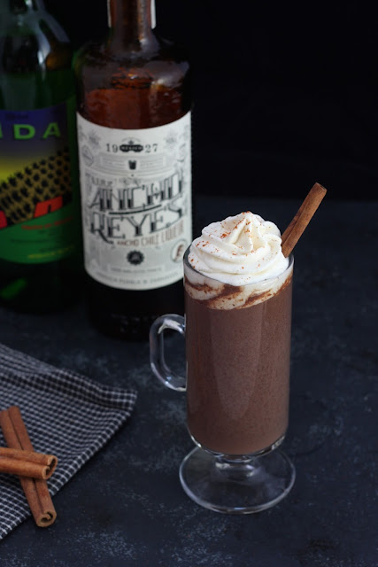 Mexican Hot Chocolate with Mezcal Whipped Cream