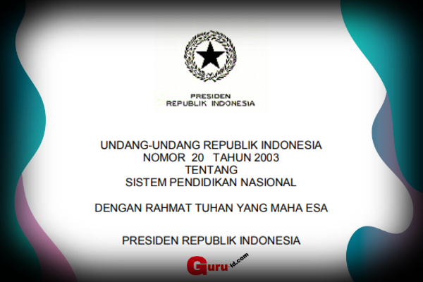GAMBAR UU No 20 Tahun 2003