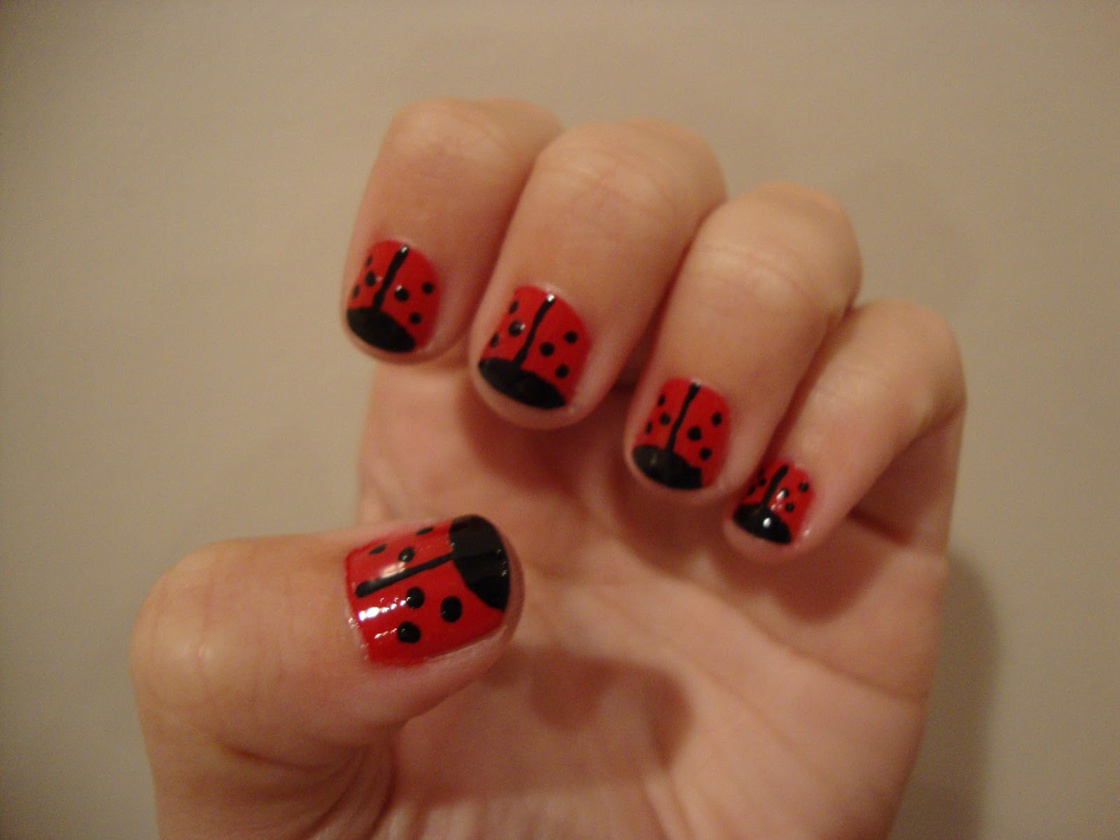NAILed it.: Lady Bug Nails!
