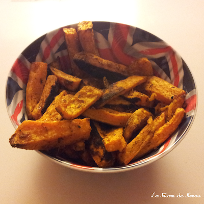 Illustration frites de patates douces