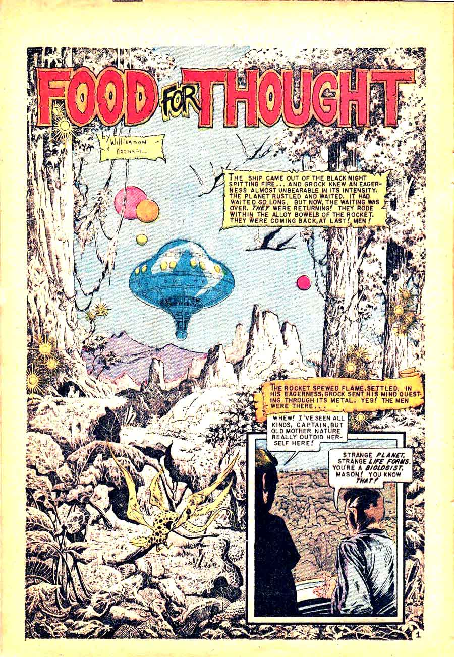 Incredible Science Fiction v1 #32 ec comic book page art by Al Williamson