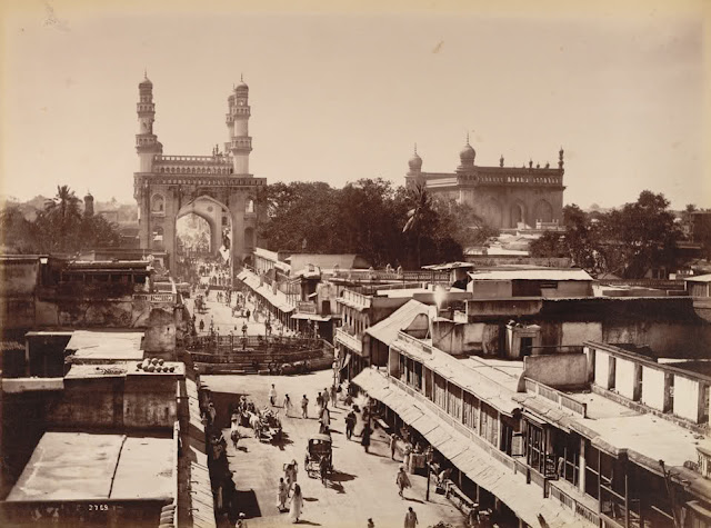 Distant view of Char-su-ka Houz - the royal fountain near Charminar