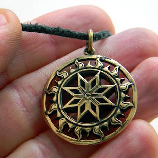 купить талисман звезда алатырь крест сварога в бронзе глюкоморье