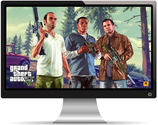 GTA 5 2015 3 Personnages - Fond d'Écran en Full HD