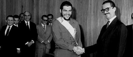 Imagem de Che Guevara e Jânio Quadros