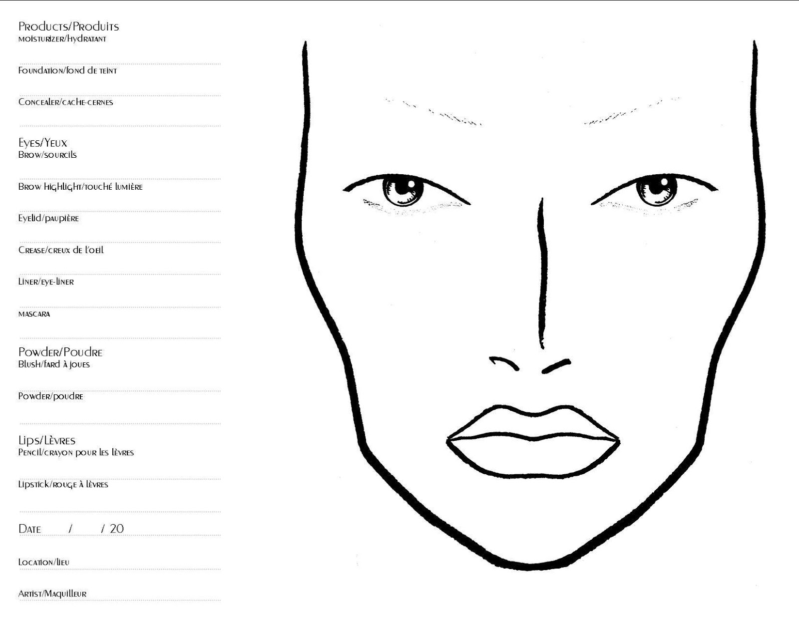 Makeup Coloring Pages - Costumepartyrun