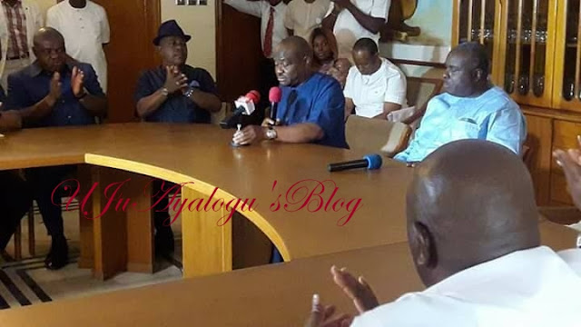 Two PDP Governors Meet with Former Delta State Governor James Ibori at His Oghara Home (Photos)