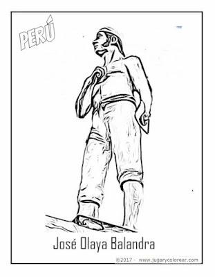 José Olaya para colorear,